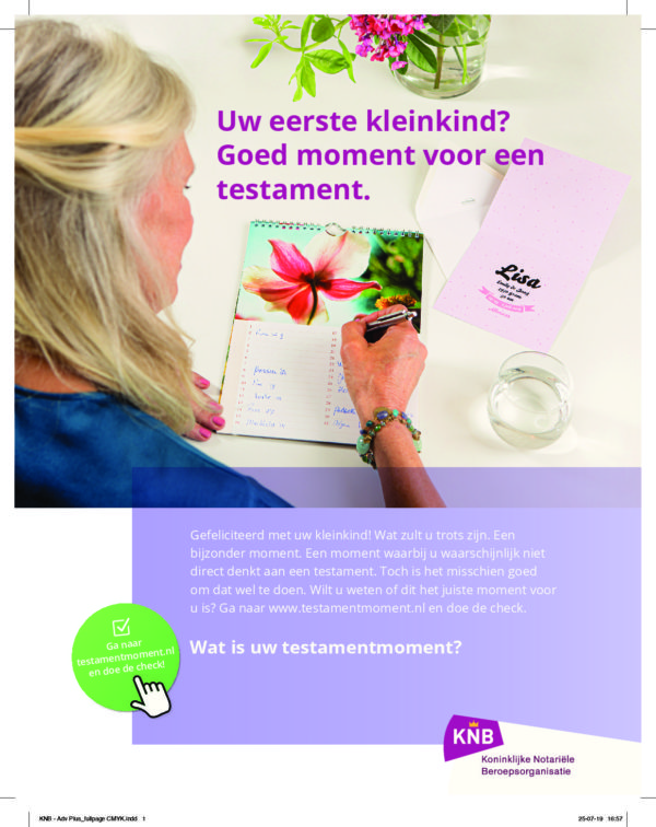 Campagne 'Wat is uw testamentmoment?'